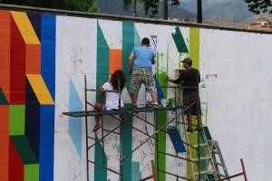 Mural, Parque Miranda, Caracas. Venezuela (2015)